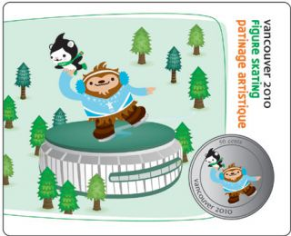 2010 - 50 Cents - Vancouver – Figure Skating Mascot collector Card