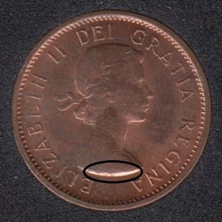 1961 - Break on Bust - Canada Cent