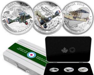 2016 - $20 - Fine Silver 3-Coin – Aircraft of First World War