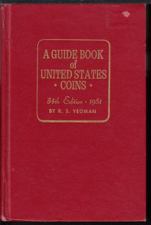 1981 - A Guide Book of United States Coins - Usagé