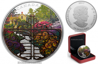 2017 - $30 - 2 oz. Pure Silver Coin - Gate to Enchanted Garden