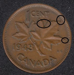 1943 - Break in ML - Canada Cent