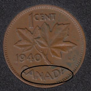 1940 - Break ANADA Attached - Canada Cent