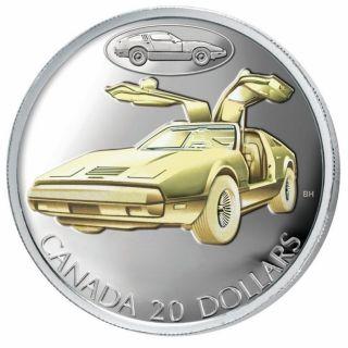 2003 $20 Sterling Silver Gold Plated - Bricklin SV-1 Transportation Series