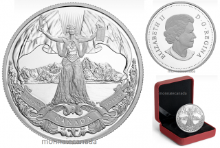 2017 - $1 - 2017 Proof Pure Silver Dollar - 150th Anniversary of Canadian Confederation