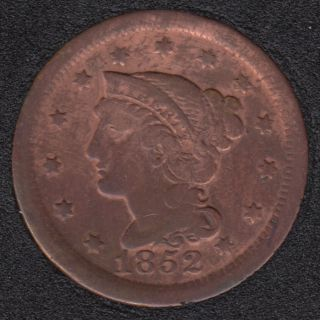 1852 - Liberty Head - Nettoyé - Large Cent
