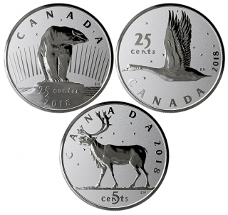 2018 - 25¢ - 1 oz. Pure Silver 3-Coin Set - Royal Canadian Mint Coin Lore: The Coins That Never Were