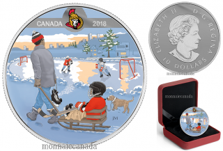 2018 - $10 - Pure Silver Coloured Coin - Learning to Play: Ottawa Senators®