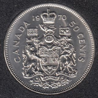 1970 - B.Unc - Canada 50 Cents