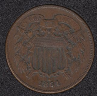 1864 - Shield - EF - Two Cents