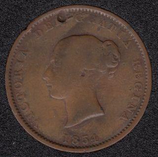 N.B. 1854 Victoria Dei Gracia Regina Half Penny Token - NB-1B