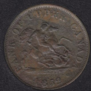 P.C. 1852 Bank of Upper Canada Half Penny PC-5B2
