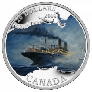 2014 - $20 - 1 oz. Fine Silver Coin - Lost Ships in Canadian Waters: RMS Empress of Ireland