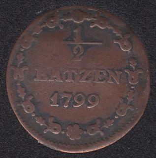 1799 - 1/2 Batzen - Suisse