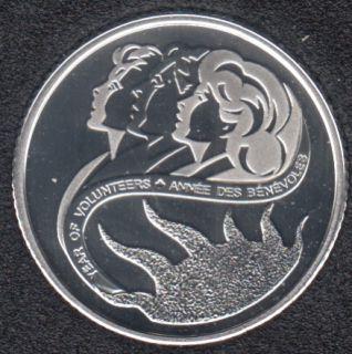 2001 - Proof - Bénévoles - Argent - Canada 10 Cents