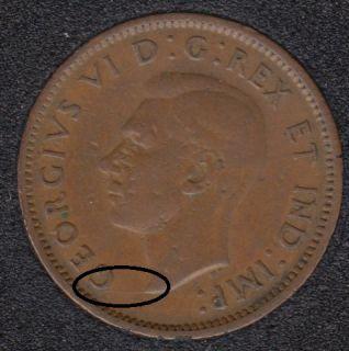 1942 - Break Bust to G - Canada Cent