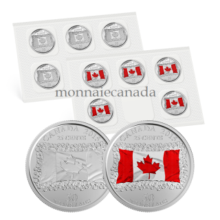 2015 - 25 Cents - Canadian Flag - 25-cent Circulation Coin Pack