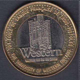 Trois-Pistoles / Les Basques - 2002 - 70° Ann. École Française - (bimétal.) $3 Trade Dollar