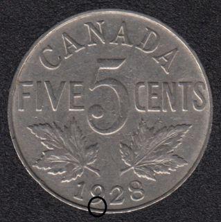 1928 - Dot - Canada 5 Cents