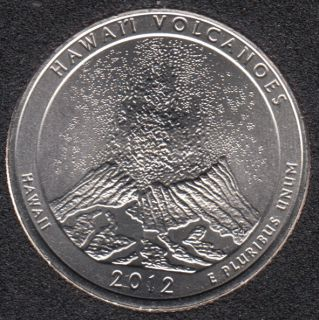 2012 D - Hawaii Volcanoes - 25 Cents