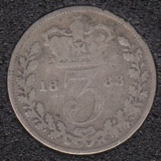 1883 - 3 Pence - Grande Bretagne