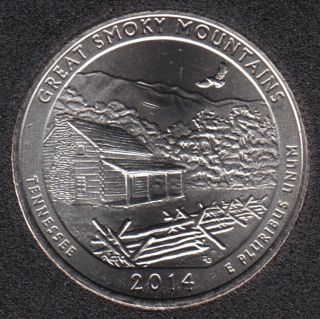 2014 D - Great Smoky Mountains - 25 Cents