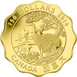 2014 - $150 - Pure Gold Coin - Blessings of Longevity