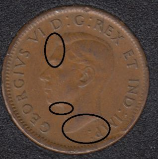 1945 - Double Head - Canada Cent
