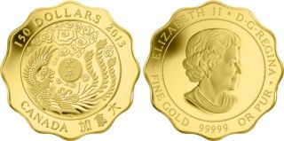 2013 - $150 - Pure Gold Coin - Blessings of Peace