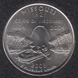 2003 P - Missouri - 25 Cents