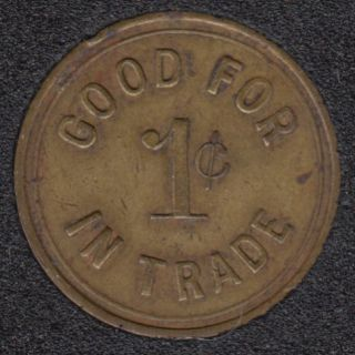 Arcade - Amusement Co. - Good for 1¢ in Trade  - Gaming Token - 1¢