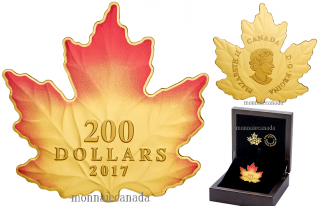 2017 - $200 - 1 oz. Pure Gold Coloured Coin - Autumn Fire