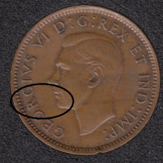 1946 - Break Mouth to Rim - Canada Cent