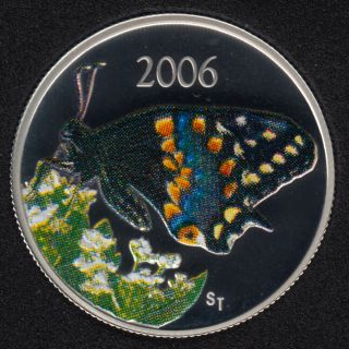 2006 - Proof - Short-Tailed Swallowtail Butterfly - Sterling Silver - Canada 50 Cents