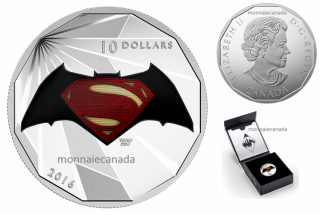 2016 - $10 - 1/2 oz. Fine Silver – Batman v Superman: Dawn of JusticeTM - Logo