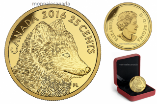 2016 - 25¢ - 0.5 g Pure Gold Coin – Predator vs. Prey Series: Arctic Fox