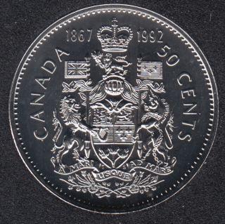 1992 - 1867 - NBU - Canada 50 Cents