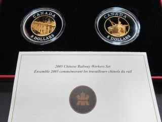 2005 $8 Chinese Railways Workers Set Fine Silver - TAX Exempt