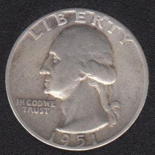 1951 - Washington - 25 Cents