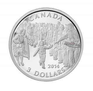 2014 Canada $3 Dollars Fine Silver - Wait for me, Daddy