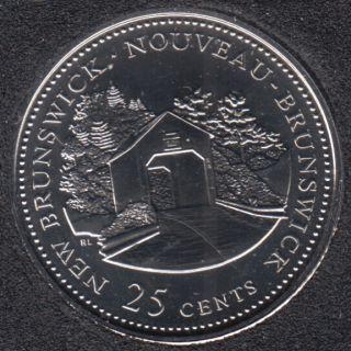 1992 - #1 NBU - Nouveau Brunswick - Canada 25 Cents