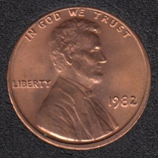 1982 - B.Unc - Large Date - Lincoln Small Cent