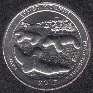 2017 D - Effigy Mounds - 25 Cents