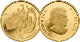 2010 - $200 - First Gold 22-Karat Gold Coin