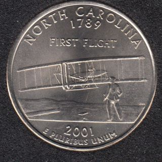 2001 P - North Carolina - 25 Cents
