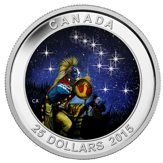 2015 - $25 - 1 oz Fine Silver Glow-in-the-Dark - Star Chart