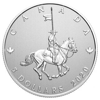 2020 - $5 - Pièce en argent pur – Grands moments : Célébrons les 100 ans de la GRC en tant que service de police national du Canada
