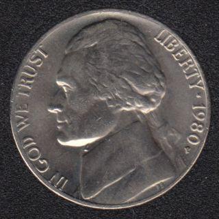 1980 P - Jefferson - B.Unc - 5 Cents