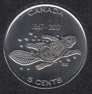 2017 - B.Unc - Living Traditions - Canada 5 Cents