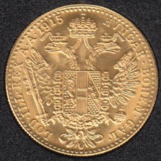 Austria 1915 - Ducat Gold Coin